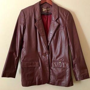 ETIENNE AIGNER Vintage Brown Leather Jacket